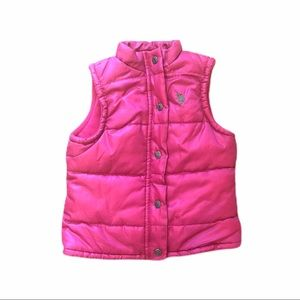 US Polo Girls Puffer Vest Hot Pink Coat Jacket 2T